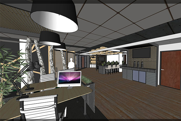 Centennial Desk Area Renderign